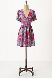 vintage floral tieback dress by some old rubies