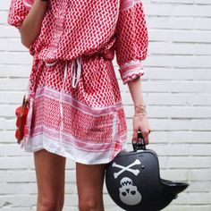 ☆ Rock 'n' Roll Style ✯ Rough Rugs // Leila K. dress red/white