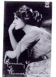 "Florence Lawrence ""The Biograph Girl"" First star to be named in early silents"