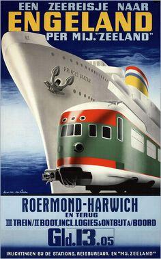 De invloed van de Franse ontwerper Cassandre en de reclame-acties van de Nederlandse Spoorwegen goedkope tickets en dagjes uit leverden in de jaren 30 een reeks mooie affiches op.