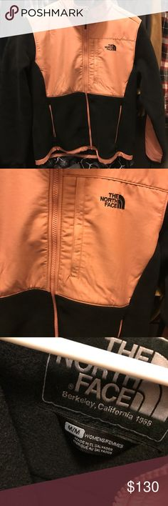 M women's NF Dusty Rose/Black jacket Smoke free Pet free home. just bought it two weeks ago and not in love with it in me so I'm seeing if I can get part of my money back :( I paye $150 + tax and shipping so please no low balls North Face Jackets & Coats