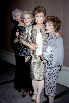 The Golden Girls as themselves. L-R: Bea Arthur, Betty White, Rue McClanahan, and Estelle Getty.