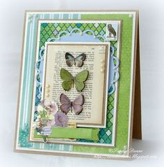 Fab card by Sandie using the Enchanted Garden 6x6 Bo Bunny pad