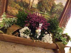 dough bowls filled with succulents Hydrangea Arrangements, Flower Centerpieces, Table Centerpieces, Table Arrangements, Table Decorations, Dough Box, Teak, Rustic Bowls, Wooden Dough Bowl