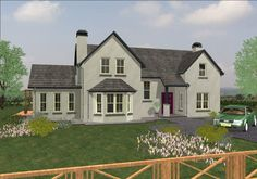 House Designs Ireland, Dormer Bungalow, Country Home Exteriors, Sims 4 Houses, Eco Friendly House, Architect House, Types Of Houses, Log Homes, Exterior Design