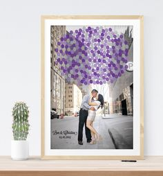 photo guest book wedding alternative print custom guestbook poster engagement photo, wedding canvas print by MDBWeddings on Etsy