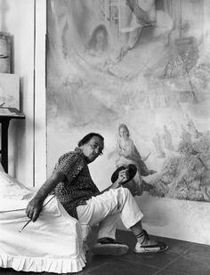 Dali paints Helena of Port Lligat