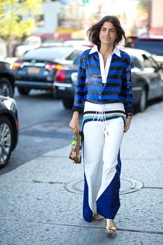Leandra Medine in Rosie Assoulin pants | New York Fashion Week Street Style Spring 2016 - #NYFW #StreetStyle