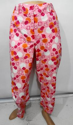 Lilly Pulitzer Pink Red Orange Ladybugs & Flowers Capri Cropped Pants Size 10 #LillyPulitzer #CaprisCropped
