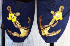 Painted Toms; nautical floral