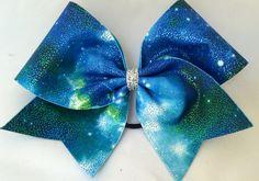 Cheer Bow - Blue Galaxy by FullBidBows on Etsy https://www.etsy.com/listing/206732477/cheer-bow-blue-galaxy