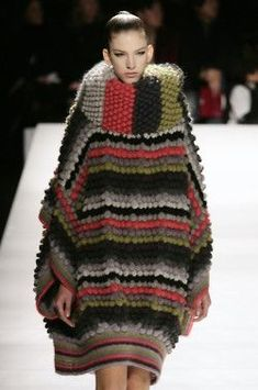 Kenzo | fall 2008- when she was last seen just before the tragic sweater swallowing incident: