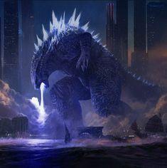 Monster Concept Art, Monster Art, Aliens, Sully Monsters Inc, Godzilla Franchise, King Kong Vs Godzilla, All Godzilla Monsters, Godzilla Wallpaper, Prehistoric Animals