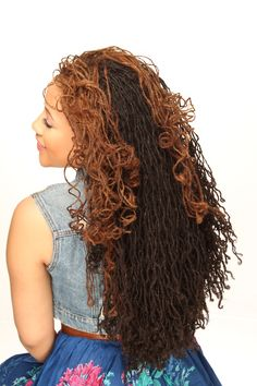 Long Locs with Curls | Black Women Natural Hairstyles