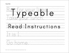 Make Your Own Handwriting Worksheets: Print Handwriting Practice   custom worksheets  type own worksheet    ,
