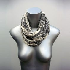 Necklush is the original & patented multi-strand infinity scarf, established in 2008 in Brooklyn, NY. Our pieces are printed by hand and custom made to order for you in our Athens, GA studio. We give meticulous attention to every design and detail. And we consider each piece a little work of art! We hope to make something special for you very soon:) - Troy and Stephano  - Design - Cowl Multi-Strand Circle Infinity Scarf - Length - approx. 23 inches long - Material - 100% cotton…
