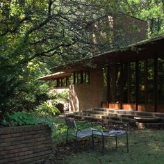 Palmer House. Ann Arbor, Michigan. 1950. Frank Lloyd Wright. Usonian.