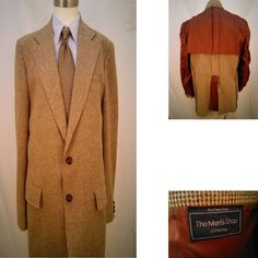 The Men's Shop JC Penny 42R Tweed Style Two Leather Button Sports Coat #MensShopJCPenny #TwoButton
