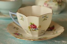 Shelly cup -  octagonal and dainty.