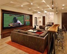 Love the finished basement and man cave