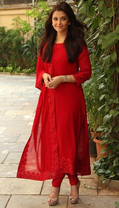 If I could dress like this every day for work, I'd be in heaven! :)  --  Red Color Salwar #Suit