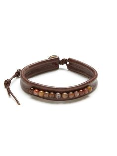 Leather Pietersite Bead Bracelet by Chan Luu Men's on Gilt