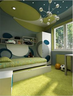 He is moving rooms, I like this idea but not sure what he things about his room being done in subatomic particles!