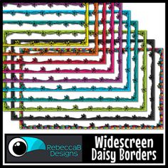Widescreen 16:9 Daisy Borders - Google Slides™ and PowerPoint™ | TpT