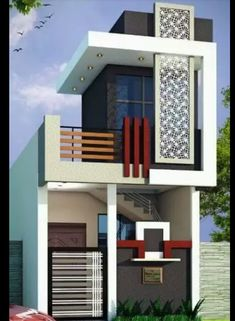 Modern House Elevation One Floor. 20 Modern House Elevation One Floor. Single Floor House Design, Modern House Floor Plans, Home Design Floor Plans, Front Elevation Designs, House Elevation, Bungalow House Design, Modern House Design, Modern Houses, Architectural House Plans
