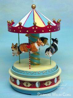 Pembroke Welsh Corgi Original Sculpture Corgi Carousel One-of-a-kind Art I would love this for my Coco girl! Corgi Dog, Pembroke Welsh Corgi, Corgi Funny, Online Pet Supplies, Dog Supplies, Corgi Pictures, Cardigan Welsh Corgi, Dog Items, Dog Accessories