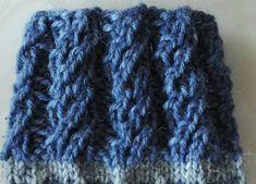 PAPPILAN ELÄMÄÄ: Uudenlainen joustin Knitting Stitches, Knitting Socks, Knitted Hats, Boot Cuffs, Handicraft, Mittens, Stitch Patterns, Needlework, Knit Crochet