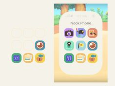 Animal Crossing Memes, Animal Crossing Pocket Camp, Iphone App Layout, Iphone Wallpaper App, Phone Games, App Icon Design, App Covers, Phone Organization, Phone Icon