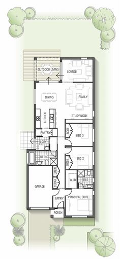 Add a 2 car garage with a sink, wraparound decking, a door accessing the deck from all of the bedrooms, and this would fulfill all our needs