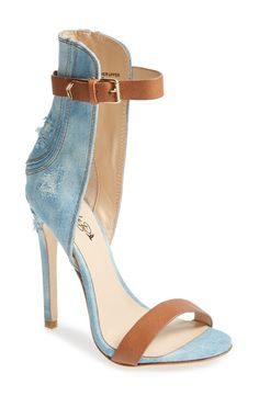 emilyb x ZiGiNY 'Yayi' Ankle Strap Sandal in Light Blue