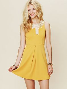 Free People Waffle Knit Collar Dress at Free People Clothing Boutique
