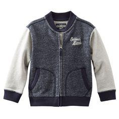 Baby Boy Marled Baseball Jacket | OshKosh.com