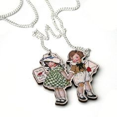 Valentines Necklace Young Love Necklace by LaurasJewellery on Etsy, £8.00