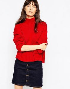 ASOS | ASOS Boxy Jumper with Chunky High Neck at ASOS