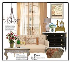 """""""Paris Apartment"""" by hastypudding ❤ liked on Polyvore featuring interior, interiors, interior design, home, home decor, interior decorating, Dian Austin Couture Home, Riedel, HiEnd Accents and Sia"""