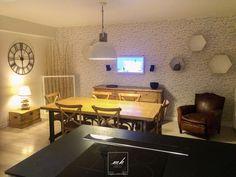 Notre #decoratrice Hauts-de-Seine réalise une magnifique salle à manger à l'esprit #industriel #scandinave