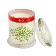 One of my favorite discoveries at ChristmasTreeShops.com: Lenox® Holly Berry Glass Jar Candle