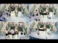 A 30-year-old woman died in a Chinese shopping mall on Sunday by an accident on escalator. Video shows that the woman, identified as Xiang Liujuan, climbing up by the escalator with her son in a mall in Jingzhou, China.