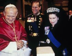The Queen And Prince Philip At The Vatican For An Audience With The Pope in 1980