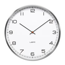 Buy One Wall Clock - Stainless Steel, White Arabic from LEFF Amsterdam. In addition to the index range, wiebe also designed an arabic dial. The clock is. Minimalist Clocks, White Wall Clocks, Wall Clock Online, Tabletop Clocks, Wall Clock Design, Design Bestseller, Desk Clock, Clock Wall, Facades
