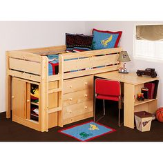 Canwood Whistler Storage Loft Bed with Desk Bundle, Natural....try to find somewhere else or wait for it to come back in stock.