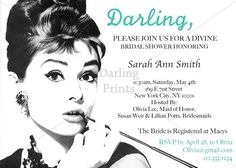 Breakfast at Tiffany's Themed Bridal Shower by OhDarlingPrints, $15.00