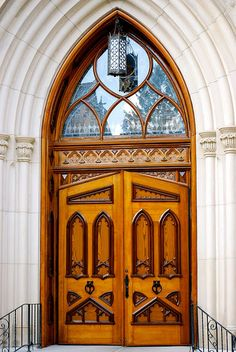 Door of  the Basilica of the Sacred Heart at Notre Dame University, South Bend, Indiana