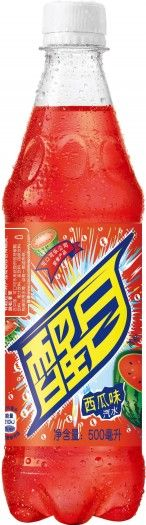 Smart soft drinks were the first carbonated beverage that Coca-Cola specifically designed for China. This one has a refreshing watermelon flavor!