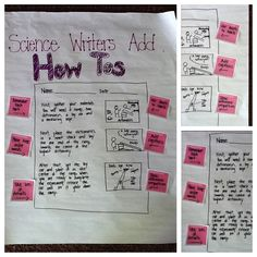 This exemplar chart provides clear expectations and suggestions for including procedural writing. Scientific Writing, Science Writing, Teaching Writing, Teaching Science, Science Notes, Kindergarten Writing, Scientific Method, Academic Writing, Literacy