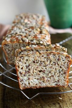 "High Protein Bread.. This would make a wonderful ""grab and go"" breakfast for my Shrinking On A Budget Meal Plan."